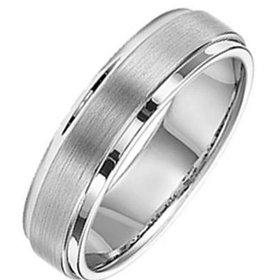 11-2133 tungsten brushed wedding band