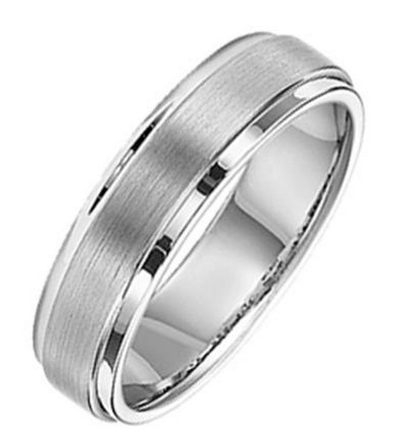 Triton 11-2133 tungsten brushed wedding band