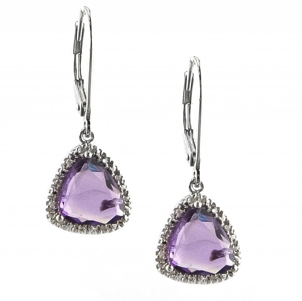 Lau E0539AM amethyst dangle earrings