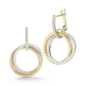 ER3041Y diamond circle earrings