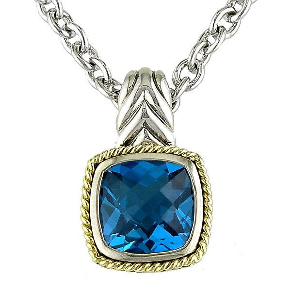 gabriel co and pendant topaz necklace sterling blue silver product davies edwards