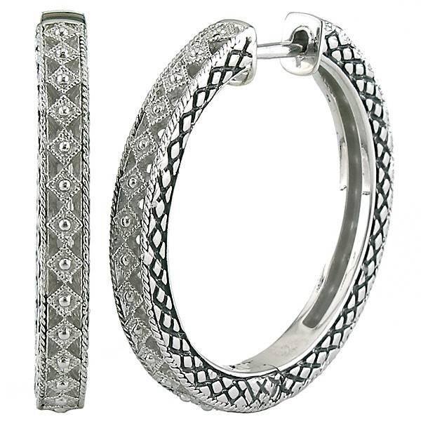 Andrea Candela ACE241 Sterling Silver Hoop Earrings