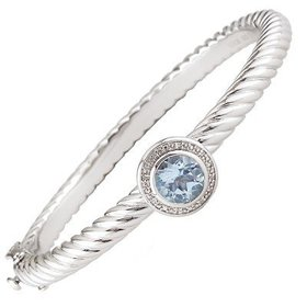 Blue topaz cable bracelet B0908BT