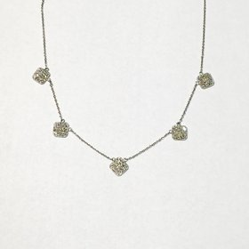 Diamond 5 Station Necklace