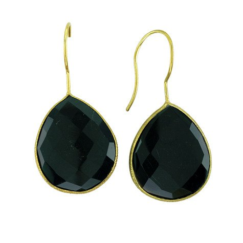 Maya J Black Onyx drop earrings