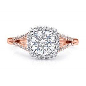 LC5392 Rose Gold Split Shank Halo