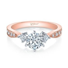 LC0751 Rose Gold Diamond Accent Setting