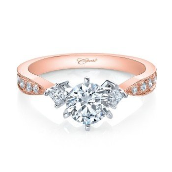Coast LC0751 Rose Gold Diamond Accent Setting