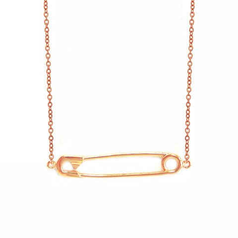 Samantha Faye Samantha Faye Safety Pin Necklace