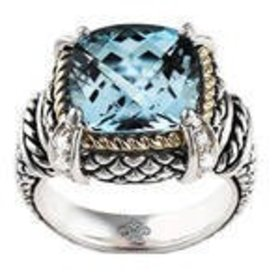 ACR02 Blue Topaz Cable Ring