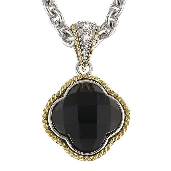 Andrea Candela ACP130 Black Onyx and Diamond Pendant