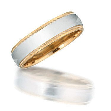 Novell NT08014 Two-Toned Wedding Band