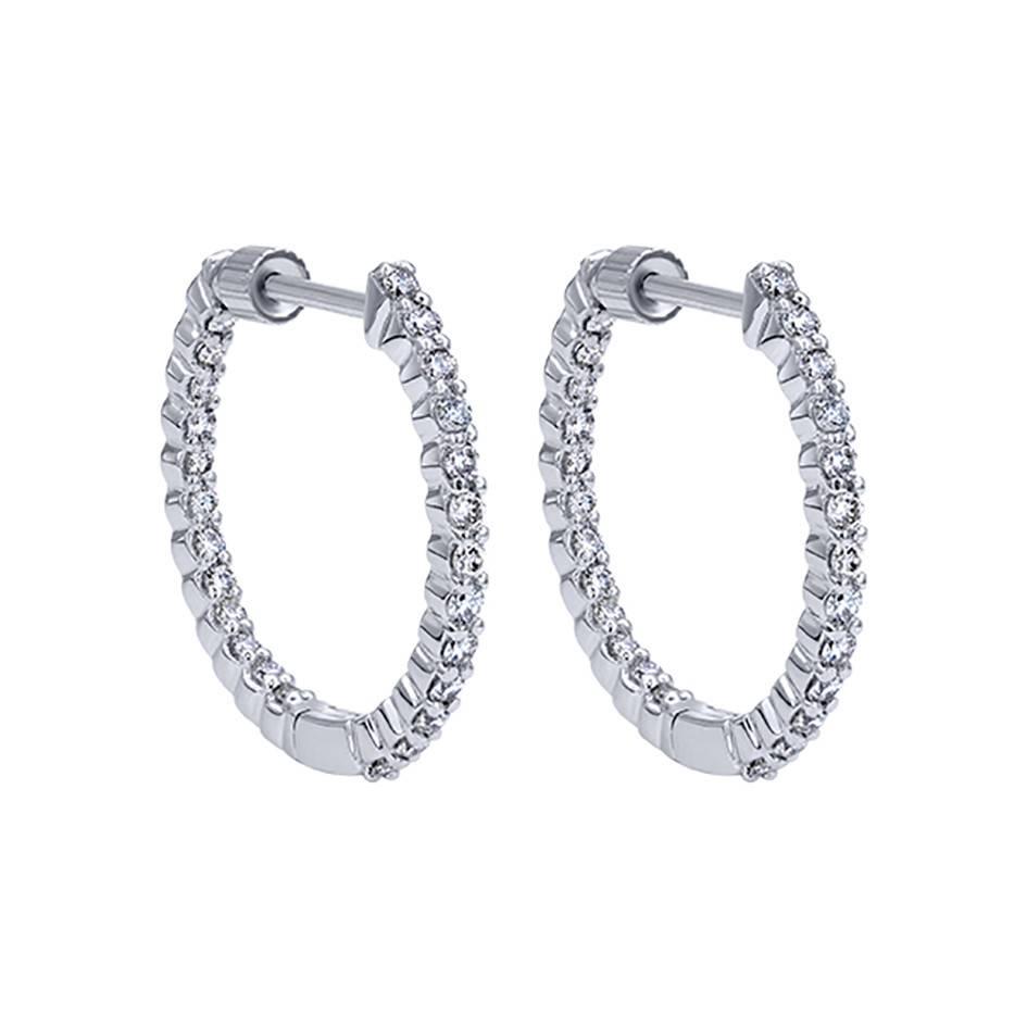 Diamond Hoop Earrings EG10861