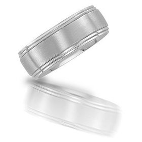 N01960 brushed wedding band