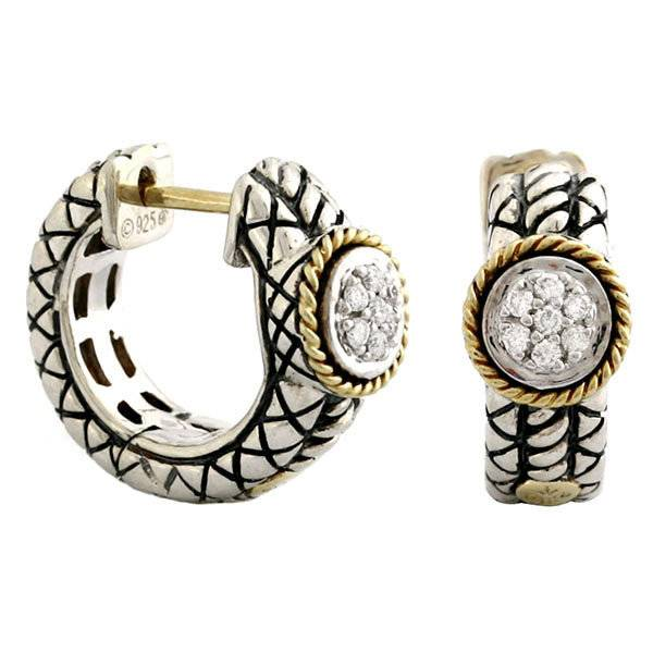 Andrea Candela ACE95 pave circle hoops