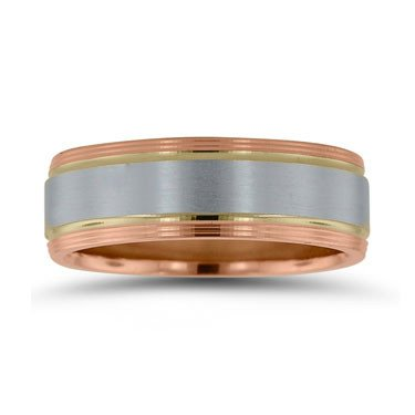 Novell NT16706 gent's two toned wedding band