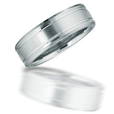 Novell Novell N01016 gent's brushed finish wedding band