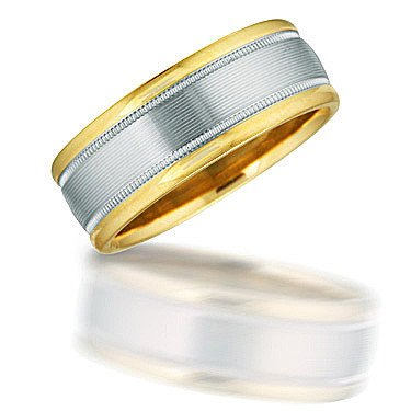 Novell NT00913 two toned gent's wedding band