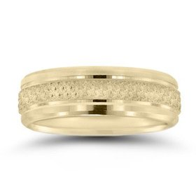 N16673 gents beaded wedding band