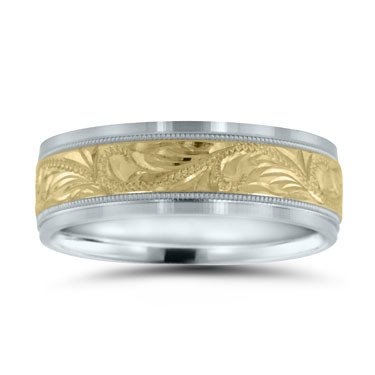 Novell NT16615 two toned wedding band
