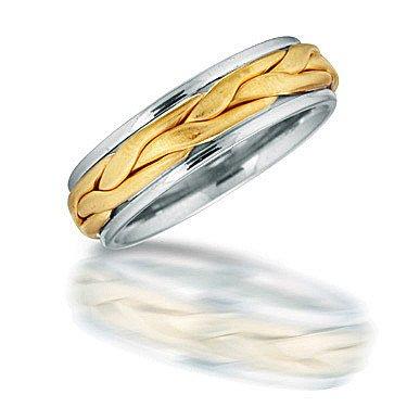 Novell NT01706 men's braided wedding ring