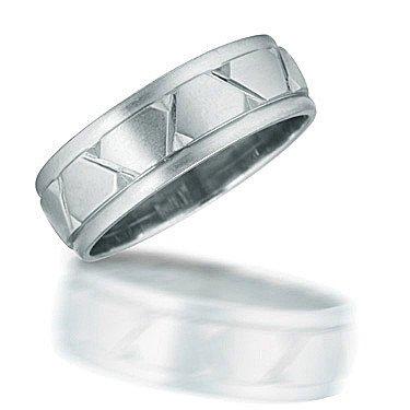 Novell Carved Comfort Fit Wedding Band N01589