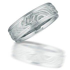 N03077 carved design men's wedding ring