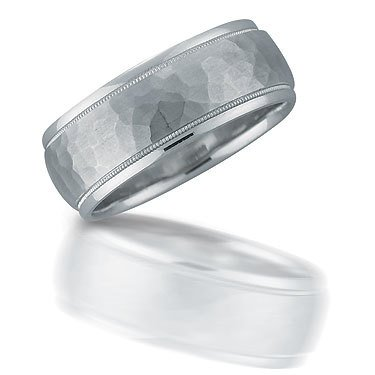 N01092 gent's hammered wedding band