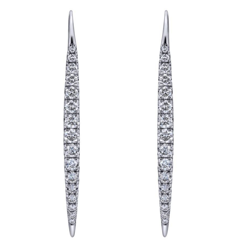 Gabriel & Co EG12630 diamond drop earrings