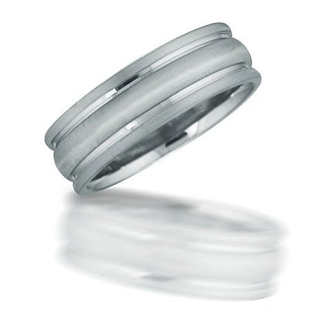 Novell N01036 gent's grooved wedding band