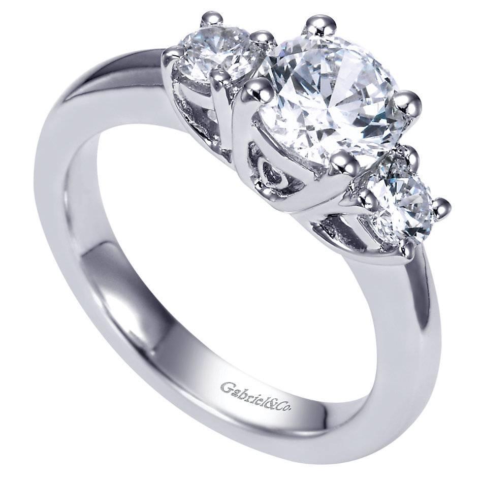 3 Stone Trellis Style Engagement Ring Gabriel Er3813