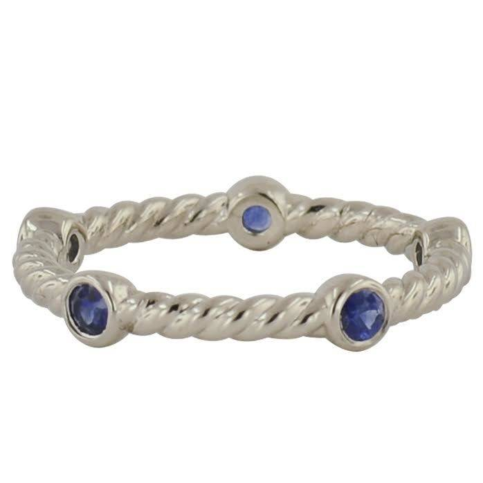 Novell Lady's Novell LD16870 cable style stackable band with sapphires