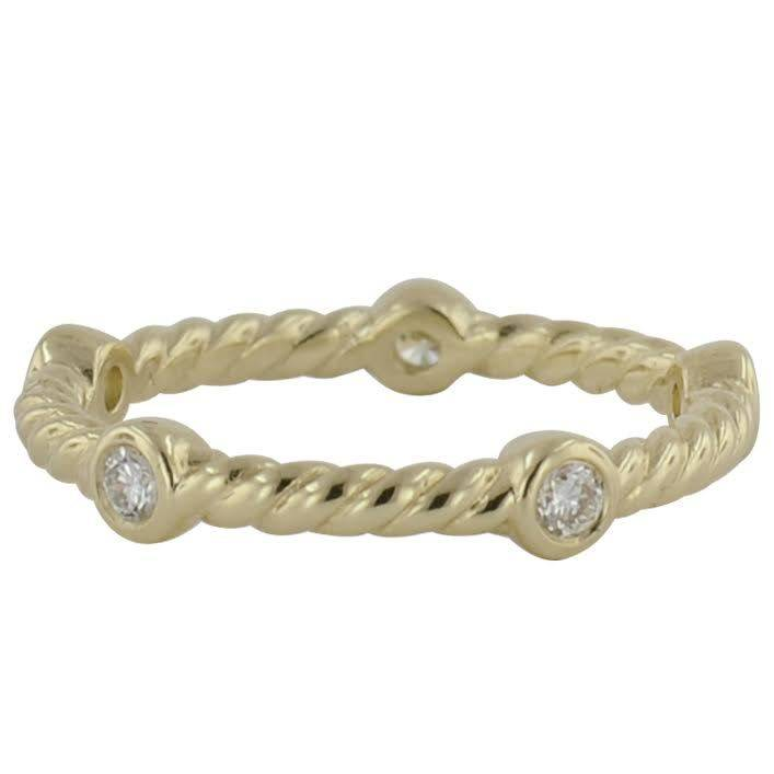 Novell LD16870 cable stackable band with diamonds