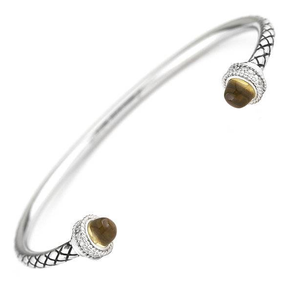 ACB293 citrine & diamond bangle bracelet