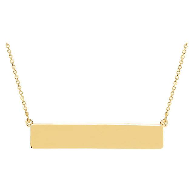 Stuller Engravable bar necklace