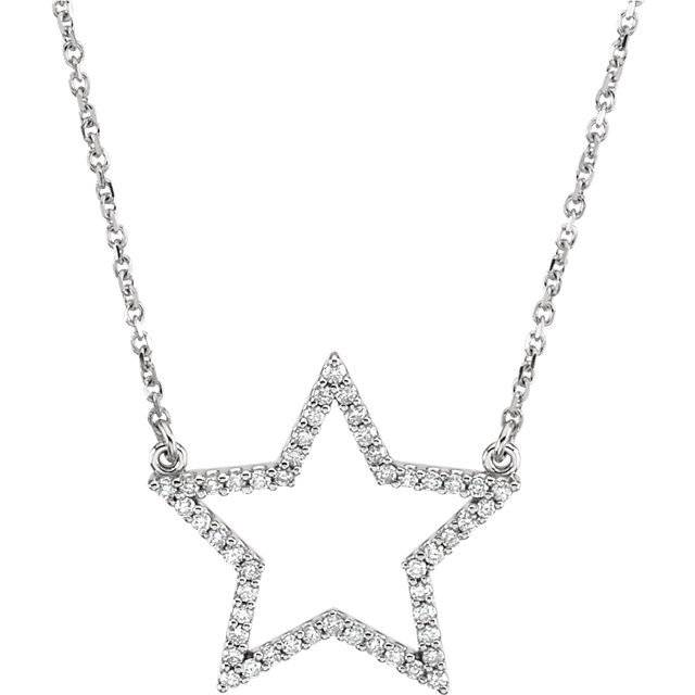 Stuller Diamond star pendant necklace