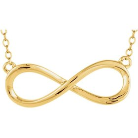 14kt yellow gold plain infinity necklace