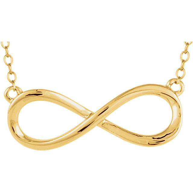 Stuller 14kt yellow gold plain infinity necklace