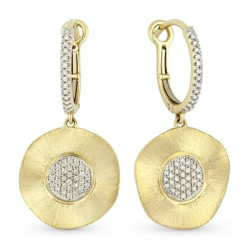 Madison L DE8897 hammered gold earrings