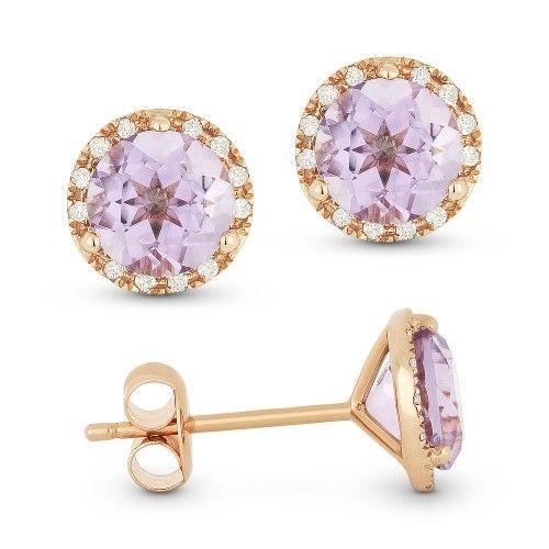 DE11126 Pink amethyst earrings
