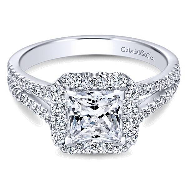 ER7277 Princess Cut Halo
