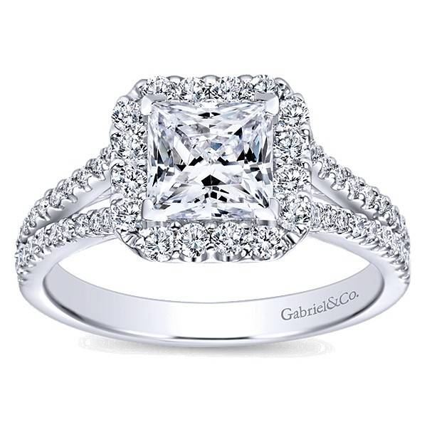 Gabriel & Co ER7277 Princess Cut Halo