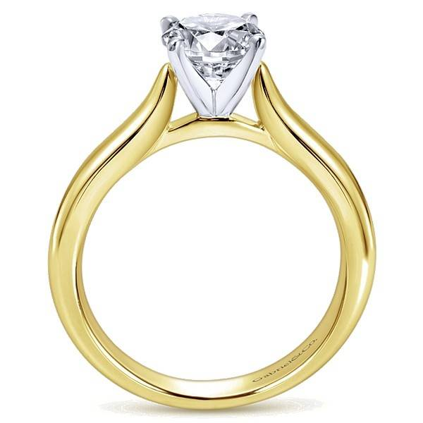 Gabriel & Co ER6684 Yellow Gold Solitaire