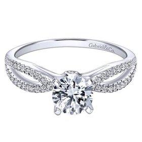 ER8129 Contemporary Split Shank Engagement Ring