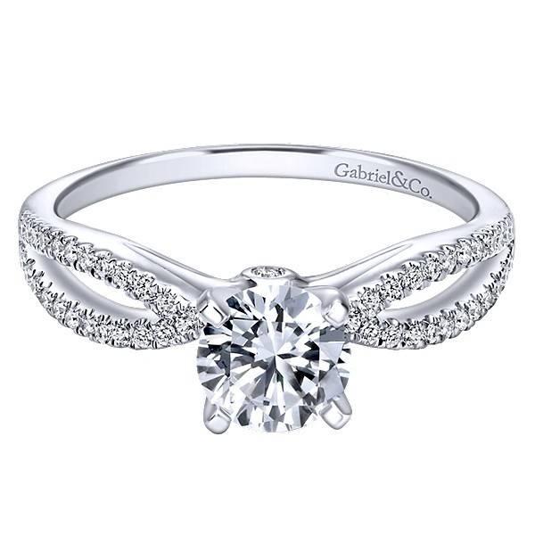 Gabriel & Co ER8129 Contemporary Split Shank Engagement Ring