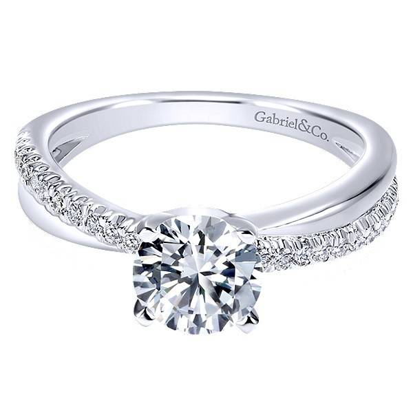 Gabriel & Co ER10439 Criss Cross Engagement Setting