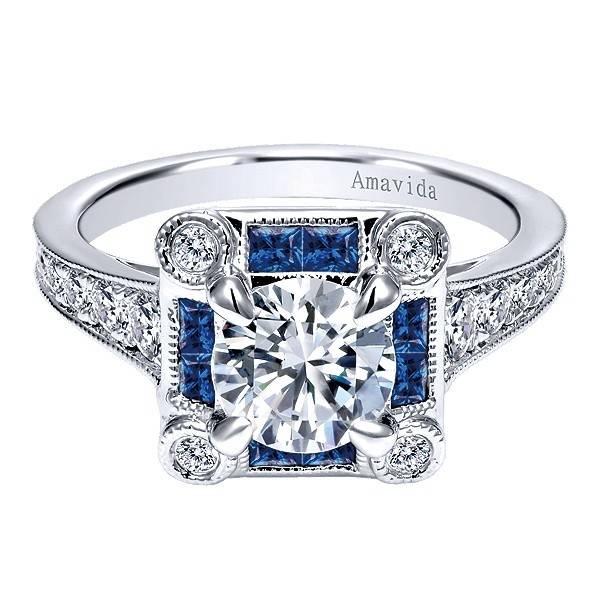 Gabriel & Co ER11740 diamond sapphire setting