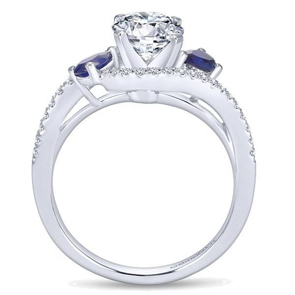 Gabriel & Co ER5331 Sapphire and Diamond Bypass Engagement Ring