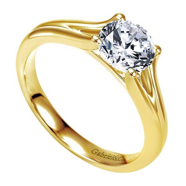 Gabriel & Co ER7516 yellow gold split shank