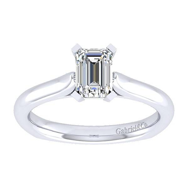 Gabriel & Co ER6623 Emerald Cut Solitaire